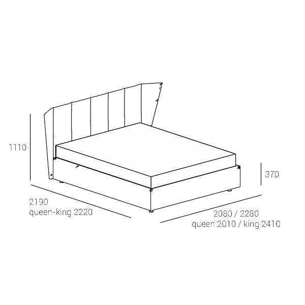 CELINE-bed-technical-drawing-
