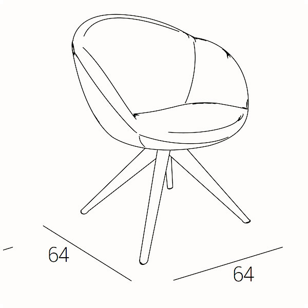 bea-B-armchair-technical-drawing