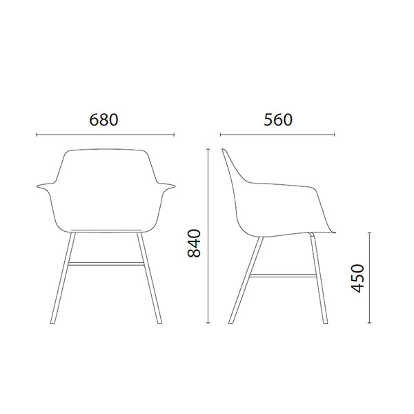 bolla-chair-technical-drawings