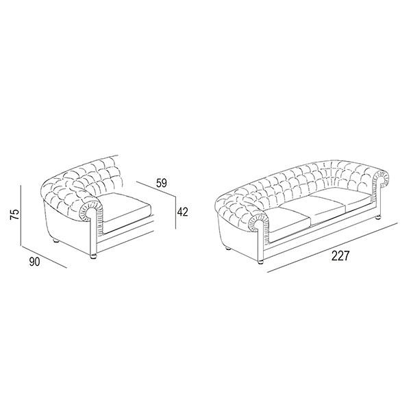 class sofa-technical-drawing