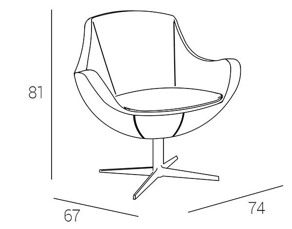 molly armchair-technical-drawing