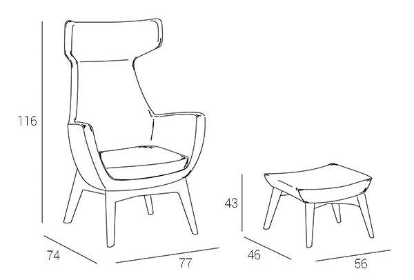 vamp-armchair-technical-drawing