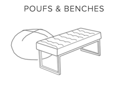 poufs benches
