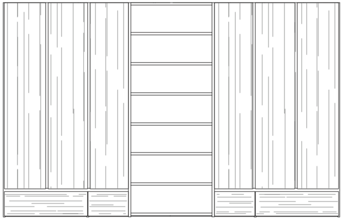 kl26 wardrobe line drawing