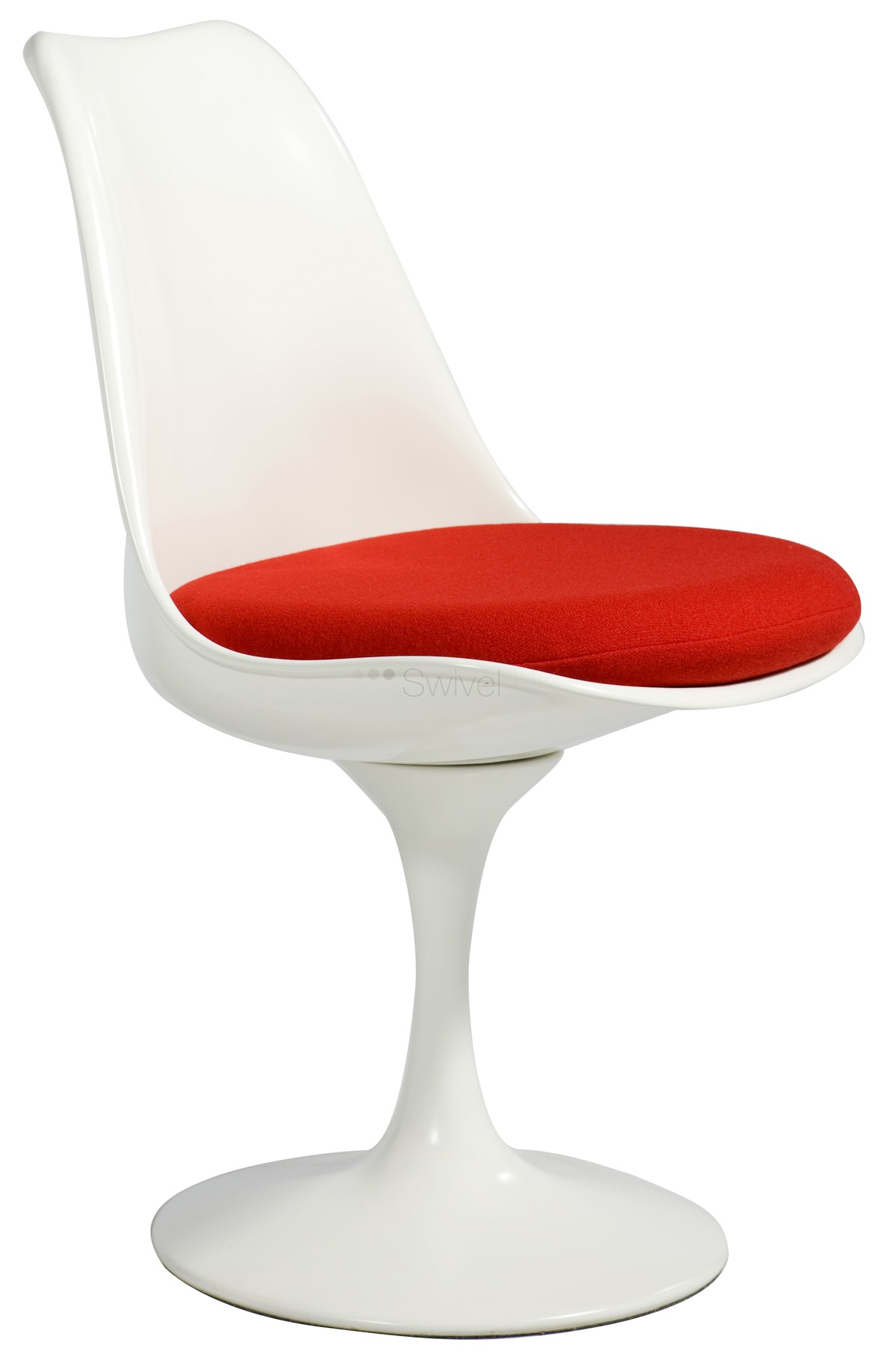Eero Saarinen Replica Tulip Chair red cushion