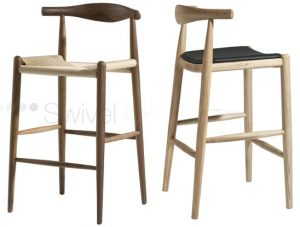 Elbow Bar Stool Hans Wegner Replica