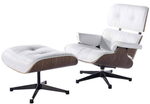 charles eames lounge chair white